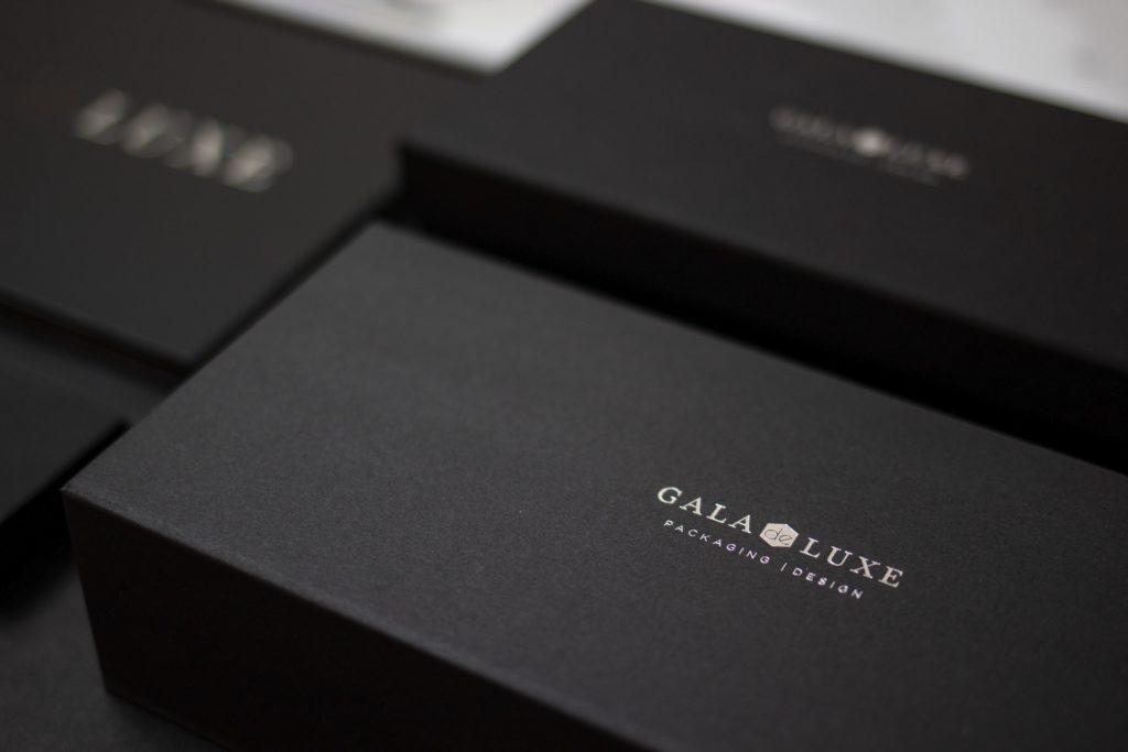GALA de LUXE Luxury Packaging Samples